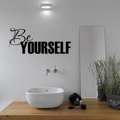 This be yourself quote wall sticker is the perfect decorative accessory to brighten up your home, ideal for any bedroom, lounge or bathroom.  Fitting is very simple and instructions are included. The material used is a high quality vinyl that is designed specifically for interior wall applications. We use matt vinyl as this doesnt reflect light from windows and therefore looks better on interior walls. The fun design will add a great touch to any bedroom.  Sticker Size: Small: 70.5cm (width)…
