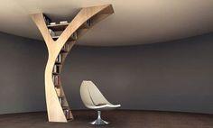 yule libreria a forma di albero