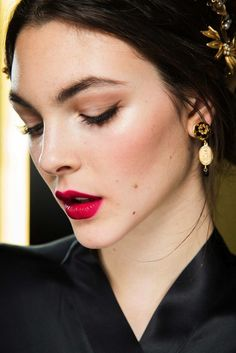 The Beauty Looks From Dolce & Gabbana F/W 2015 Are Pure Romance | WhoWhatWear