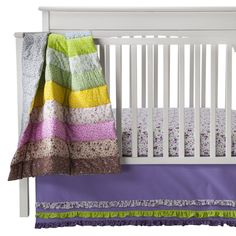 Trendlab Rainbow Floral 3pc Crib Set