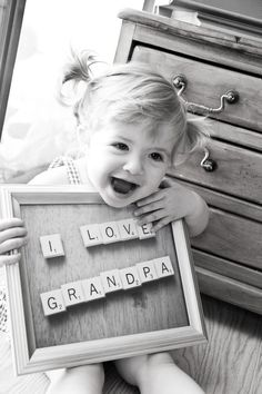 I may send this to my grandpa... but with me instead of an adorable little girl