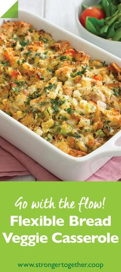 A tasty casserole that uses up stale bread and those veggies that are begging to be freed from your vegetable drawer. Vegetable Drawer, Vegetable Bread, Vegetable Dishes, Leftover Bread Recipes, Stale Bread, Vegetable Casserole, Chutney Recipes, How To Cook Chicken, Have Time