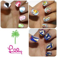 All of my Lilly manicures!