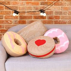 Celebration biscuit cushions LOVE the jammy dodger but the party rings are just the best!!