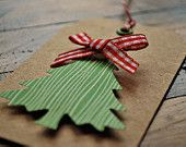 EASY!  green paper, ribbon, extra cardboard