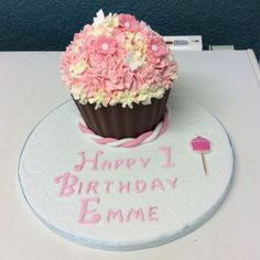Giant cupcake for a little girls birthday