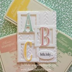 Baby girl cards stampin up embossing folder best Ideas Baby Girl Cards, New Baby Cards, Up Girl, Greeting Cards Handmade, Baby Shower Cards Handmade, Handmade Greetings, Cute Cards, Pretty Cards, Creative Cards