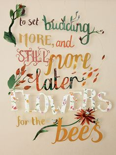 """""""Ode to Autumn""""  Paper-cut Lettering by Kate Slater - Featured on the front cover of Country Living magazine in September 2013."""