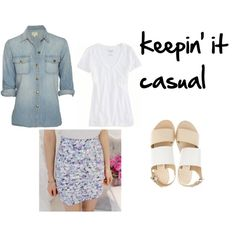 """Work Skirt turned Casual"" by m-isa-bell on Polyvore"