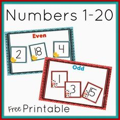 Free Farm Printables to build number sense.