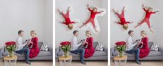 Kids Duct-Taped to the Wall Photo Tutorial Funny Family Christmas Photos, Xmas Photos, Funny Christmas Cards, Christmas Photo Cards, Montage Photo, Christmas Photography, Photo Tutorial, Duct Tape, Funny Kids