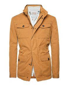 Veste field jacket intérieur matelassé HE