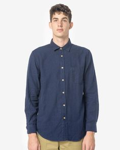 Teca Flannel in Navy