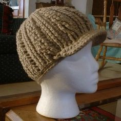 mens crochet fedora pattern free | Crochet Pattern - Adult Cable Motif Beanie with Brim review | buy ...