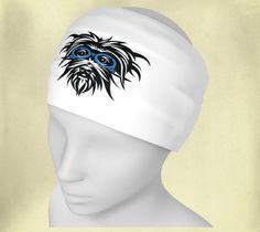 Headband - Wee Dog - Logo - Yoga headband - Pilates headband - Microknit - Quick dry - Ecopoly - Dog - Morkie - Yorkie by WeeDogWearableArt on Etsy