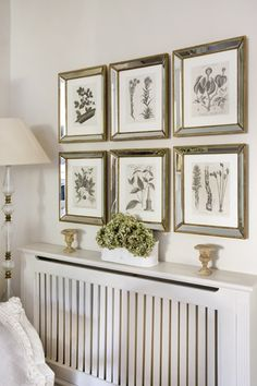 Botanical Prints with Mirrored Frames. | Bedroom | Pinterest