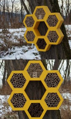 I love this Bee hotel / insect house I found on Etsy, #ad #Etsy #bee #bees #garden