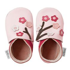 Bobux Soft Soles Pink Blossom Flowers - Baby Shoes - Cotton Babies Cloth Diaper Store- clue 1