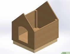 Insulated Cat House Plans Unique How to Build A Dog House with Wikihow Large Dog House Plans, Cat House Plans, Build A Dog House, Bedroom House Plans, Wooden Box Plans, Timber Frame Home Plans, Courtyard House Plans, Modern Courtyard, Cage Chat