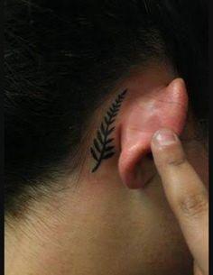 Silver Fern New Zealand tattoo
