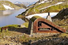 Norway hunting hut