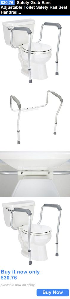 Other Accessibility Fixtures: Safety Grab Bars Adjustable Toilet Safety Rail Seat Handrail Handle Handicap New BUY IT NOW ONLY: $30.76