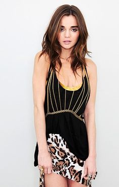 Ruche Body Chain by Louise Manna - love how it dresses up a top.