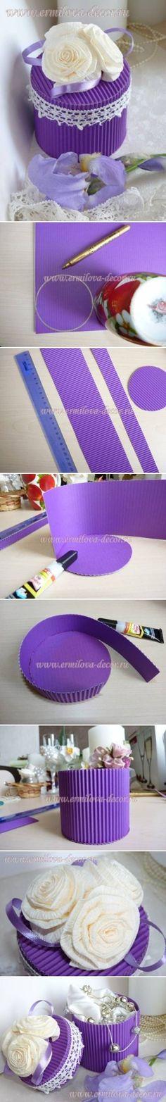 DIY Corrugated Paper Gift Box::