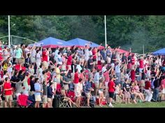 Home Run Shower. After beating #1 Florida in baseball, the Ole Miss student section shows their spirit.