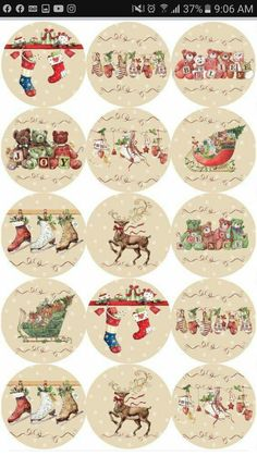 Miniature Christmas, Christmas Gift Tags, Christmas Paper, Christmas Pictures, Xmas Cards, Christmas Projects, Vintage Christmas, Christmas Ornaments, Christmas Clipart