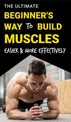 You don't need the gym to bulk muscles This is the ultimate guide to build muscle as a beginner Whether you're wanting to build lean muscle or get bigger arms or bigger gains, this will help you achieve that goal easier! is part of Exercise - Bulk Muscle, Gain Muscle, Fitness Workouts, Fitness Motivation, Muscle Fitness, Health Fitness, Fitness Studio Training, Physical Fitness, Excercise