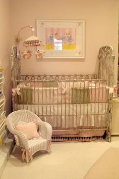 Vintage Baby Girl Nursery, We sold our home & bought a Condo to live in while we are designing our new home to build.  We were one bedroom s...