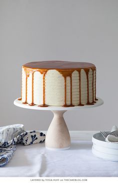 London Fog Cake - chocolate cake with Earl Grey buttercream and salted caramel, a recipe from the new cake book Layered by Tessa… Drip Cake Recipes, Cupcake Recipes, Cupcake Cakes, Food Cakes, Cake Blog, New Cake, Fall Baking, Cake Flavors, Drip Cakes