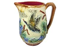 French Majolica Pitcher w/ Duck on OneKingsLane.com