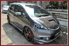 Modifikasi Honda Jazz Abu abu