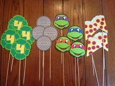 Centerpiece ideas: Teenage Mutant Ninja Turtle TMNT 16 Piece by SimplyBerryDesign