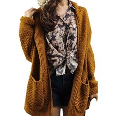 Oversize Loose Knitted Sweater Batwing Sleeve Cardigan ($7.59) ❤ liked on Polyvore featuring tops, cardigans, bat sleeve tops, batwing sleeve cardigan, oversized cardigan, brown tops and batwing sleeve tops