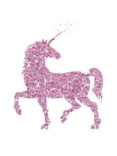 Pink Glitter Unicorn Art Print