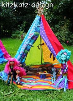 Rainbow tent for our Monster High girls ;-)