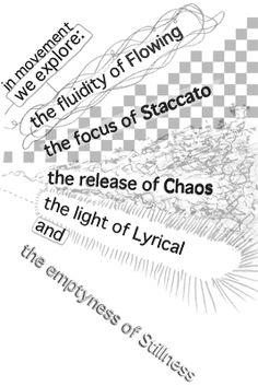5 Rhythms, flowing, staccato, chaos, lyrical, stillness