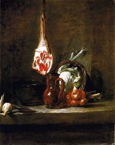 Still LIfe with Leg of Mutton | Jean-Baptiste Siméon Chardin (1699–1779)