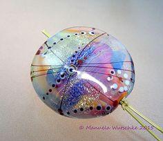Artist handmade lampwork bead Angel by manuelawutschke on Etsy