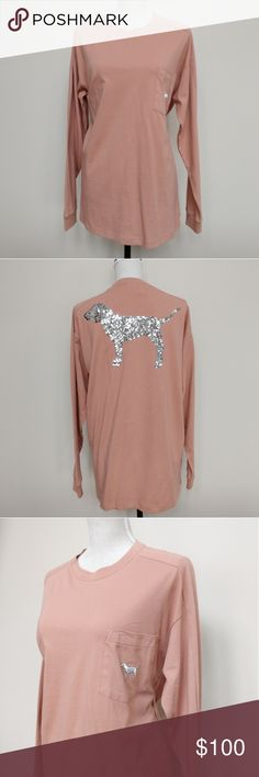 b815de494c7e1 Size M🌺 SEQUIN PINK VICTORIA S SECRET LONG SLEEVE Never Been Worn. Brand  New with tags online packaging Smoke and pet free. Fast shipping.