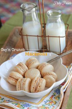 Cap'n Crunch Macarons with Cap'n Crunch Cookie Dough Filling