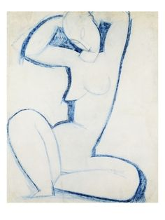 BLUE CARYATID II By Amedeo Modigliani