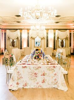 This glam pink and blue baby shower took place in The Broadmoor ballroom, so you can probably already picture the extravagance.