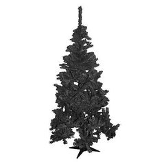 6 Foot Black Fern Artificial Christmas Xmas Tree 6ft Brand New In Retail Box
