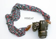 DIY Scarf - If you have an old unused scarf lying around, why not upcycle it and create this handy DIY scarf camera strap? Photoshop Photography, Photography Tips, Diy Camera Strap, How To Make Camera, Diy Scarf, Laura Ashley, Happy New Year, Baby Items, Easy Diy