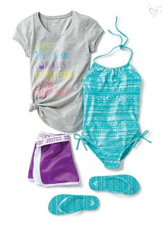 Warm-weather essentials: cute suits, fun graphics and made-to-move shorts. (And ice cream, of course!)