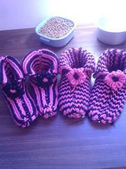 Ravelry: Loom Knit Made to Fit Double Knit Slippers pattern by Faith Schmidt